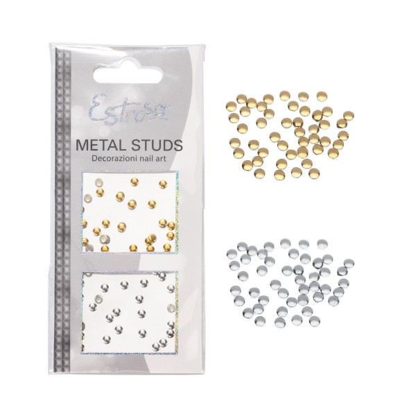 Borchie Metal Studs - CIRCLE 2 mm - Estrosa