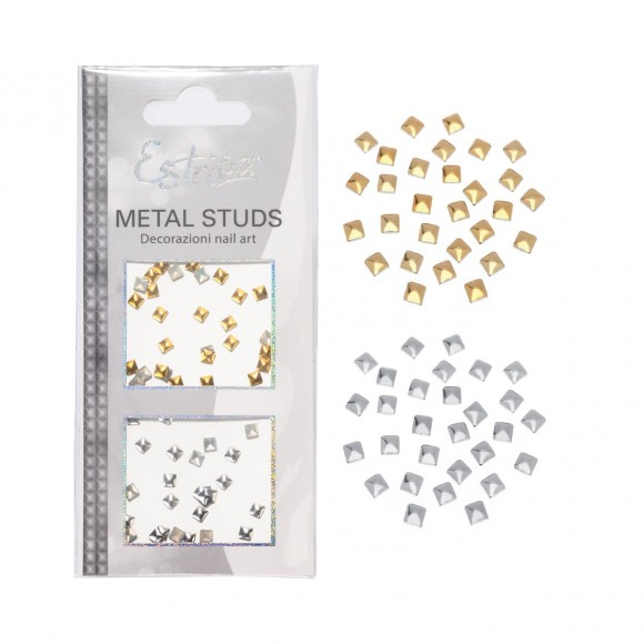 Borchie Metal Studs - SQUARE 4 mm - Estrosa