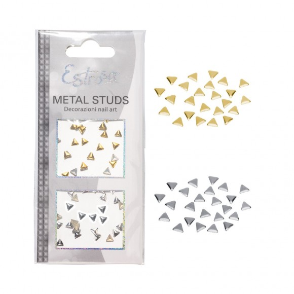 Borchie Metal Studs - TRIANGLE 4 mm - Estrosa
