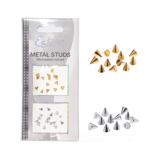 Borchie Metal Studs - CONE 3 mm - Estrosa