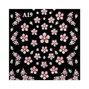 Nail Stickers - FLOWERS 3D - Estrosa