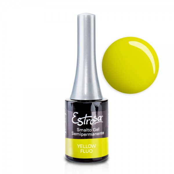 Smalto semipermanente - YELLOW FLUO - 14 ml - Estrosa