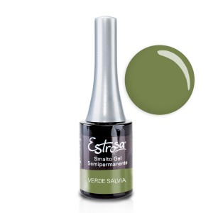 Smalto semipermanente - VERDE SALVIA - 14 ml - Estrosa