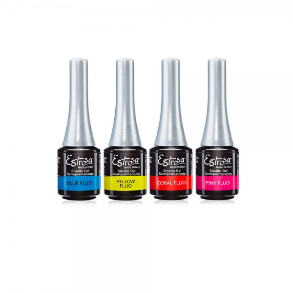 SET FLUO COLOR - 6 SMALTO GEL 7 ml - Estrosa